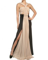 Vionnet | Black Draped Crepe De Chine Long Dress | Lyst