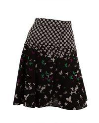 Saint Laurent | Multicolor Prairie Flower Swing Skirt | Lyst