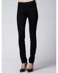 Acne | Black Zip Back Denim Jean | Lyst