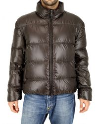 Add | Brown Ultralight Shiny Nylon Down Jacket for Men | Lyst