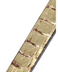 Alexander McQueen   Metallic Wrap Bracelet   Lyst