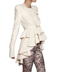 Alexander McQueen | White Leaf Crepe Jacket | Lyst