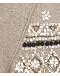 AllSaints - Natural Pearly Queen Cardigan - Lyst