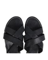 AllSaints - Black Hendrix Sandal for Men - Lyst