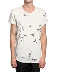 Ann Demeulemeester - White Hummingbird Print Jersey T-shirt for Men - Lyst