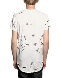 Ann Demeulemeester | White Hummingbird Print Jersey T-shirt for Men | Lyst