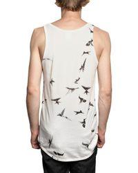 Ann Demeulemeester | White Hummingbird Print Jersey Tank Top for Men | Lyst