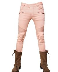 Balmain | Pink 17cm Coloured Denim Biker Jeans for Men | Lyst