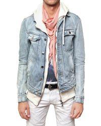 Balmain   Blue Stone Washed Denim Sport Jacket for Men   Lyst