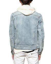 Balmain | Blue Stone Washed Denim Sport Jacket for Men | Lyst