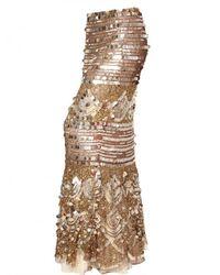 Blumarine - Metallic Sequin Silk Net Skirt - Lyst