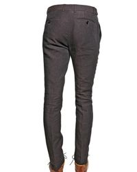 Burberry Prorsum   Brown 17cm Chambray Linen Skinny Fit Trousers for Men   Lyst