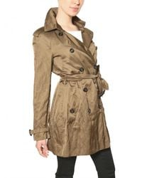 Burberry - Brown Wilmont Washed Viscose Satin Trench Coat - Lyst