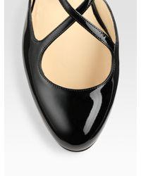 Christian Louboutin - Black Pneumatica Patent Leather Mary Jane Flats - Lyst