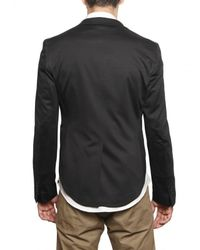 Tonello - Black Light Wool Jersey Short Tail Jacket for Men - Lyst