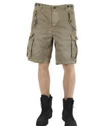 Closed - Green Light Gabardine Cargo Shorts for Men - Lyst