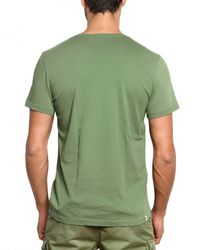 Closed - Green V-neck Jersey T-shirt for Men - Lyst