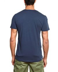 Closed | Blue V-Neck Jersey T-shirt for Men | Lyst