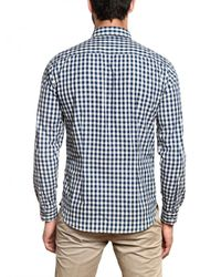 Closed - Blue Vichy Cotton Poplin Shirt for Men - Lyst