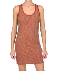 CLU | Orange Lace Tank Dress | Lyst