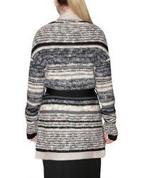 Dagmar - Gray Heavy Striped Wool Knit Sweater - Lyst