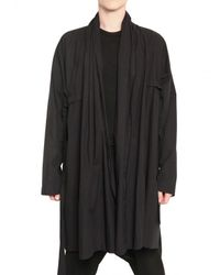 Damir Doma | Black Raw Cut Cotton Poplin Trench Coat for Men | Lyst