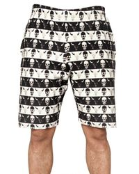 Dead Meat - Black Skull Print Fleece Shorts for Men - Lyst