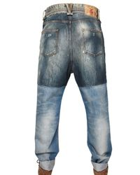 Dolce & Gabbana | Blue Denim Patchwork Ultra Baggy Jeans for Men | Lyst