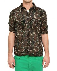 Dolce & Gabbana - Brown Camouflage Muslin Cotton Shirt for Men - Lyst