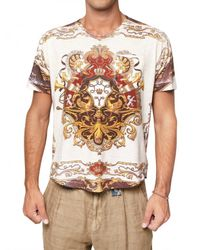 Dolce & Gabbana | Multicolor Cotton Jersey Marine Print T-shirt for Men | Lyst