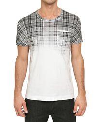 Dolce & Gabbana | White Degrade Check Printed Jersey T-shirt for Men | Lyst