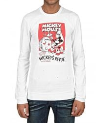 Dolce & Gabbana | White Mickey Mouse Long Sleeve Jersey T-shirt for Men | Lyst