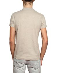 Dior Homme | Natural Bee Embroidered Round Neck Jersey T-shir for Men | Lyst