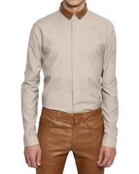 Dior Homme - Natural Nappa Collar Silk Blend Poplin Shirt for Men - Lyst