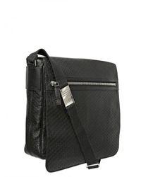 Dior Homme - Black Logo Embossed Calf Messenger Bag for Men - Lyst