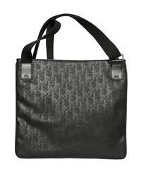 Dior Homme - Black Logo Jacquard Waxed Canvas Flat Bag for Men - Lyst