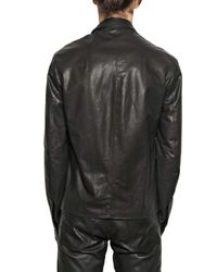 Dior Homme - Black Nappa Leather Jacket for Men - Lyst