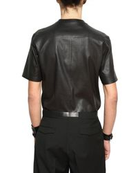 Dior Homme - Black Short Sleeved Stretch Nappa Shirt for Men - Lyst