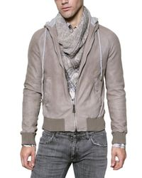 Dolce & Gabbana | Gray Washed Nappa Leather Jacket for Men | Lyst