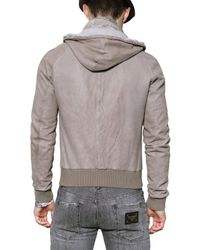 Dolce & Gabbana - Gray Washed Nappa Leather Jacket for Men - Lyst