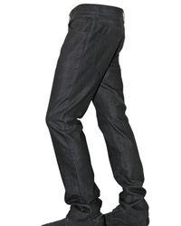 Dolce & Gabbana | Black 19cm Raw Denim Gold Fit Jeans for Men | Lyst