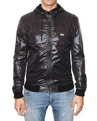 Dolce & Gabbana | Black Shiny Nylon Hooded Sport Jacket for Men | Lyst