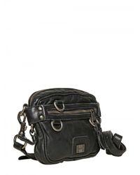 Dolce & Gabbana | Black Washed Sheepskin Fanny Pack Bag for Men | Lyst