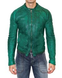 Dolce & Gabbana | Green Dyed Washed Nappa Leather Jacket for Men | Lyst