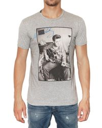 Dolce & Gabbana | Gray Elvis Presley Printed Jersey T-shirt for Men | Lyst