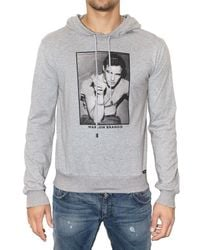 Dolce & Gabbana | Gray Marlon Brando Hooded Jersey Sweatshirt for Men | Lyst