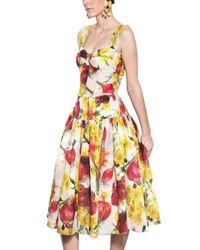 Dolce & Gabbana - Multicolor Onion Print Organza Creponne Dress - Lyst