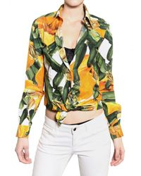 Dolce & Gabbana | Multicolor Zucchini Print Cotton Poplin Shirt | Lyst