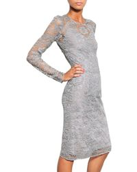 Dolce & Gabbana - Gray Viscose Lace Rope Dress - Lyst