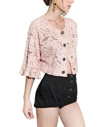 Dolce & Gabbana - Natural Jewelled Cotton Lace Jacket - Lyst